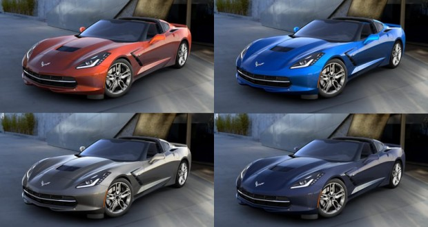 Four Paint Colors Discontinued for the 2016 Corvette
