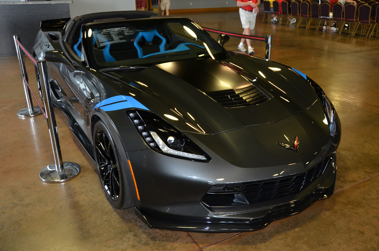 2017 Corvette Grand Sport Collector Edition in Watkins Glen Gray Metallic and Tension Blue interior.