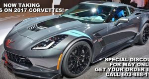 Special Discount on 2017 Corvette Orders - Good for May Only!