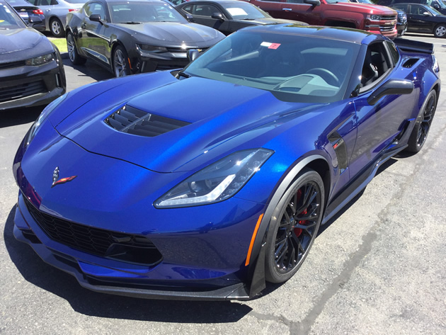 2016 Corvette Z06 - Z07 in Admiral Blue Metallic Caught ...