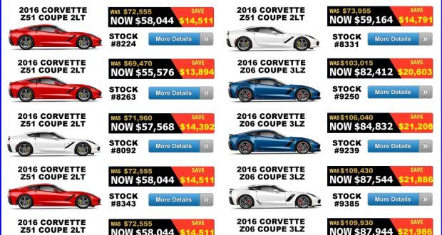 LIMITED TIME OFFER!!! 20% Off Select Bonus Tag 2016 Corvettes!!
