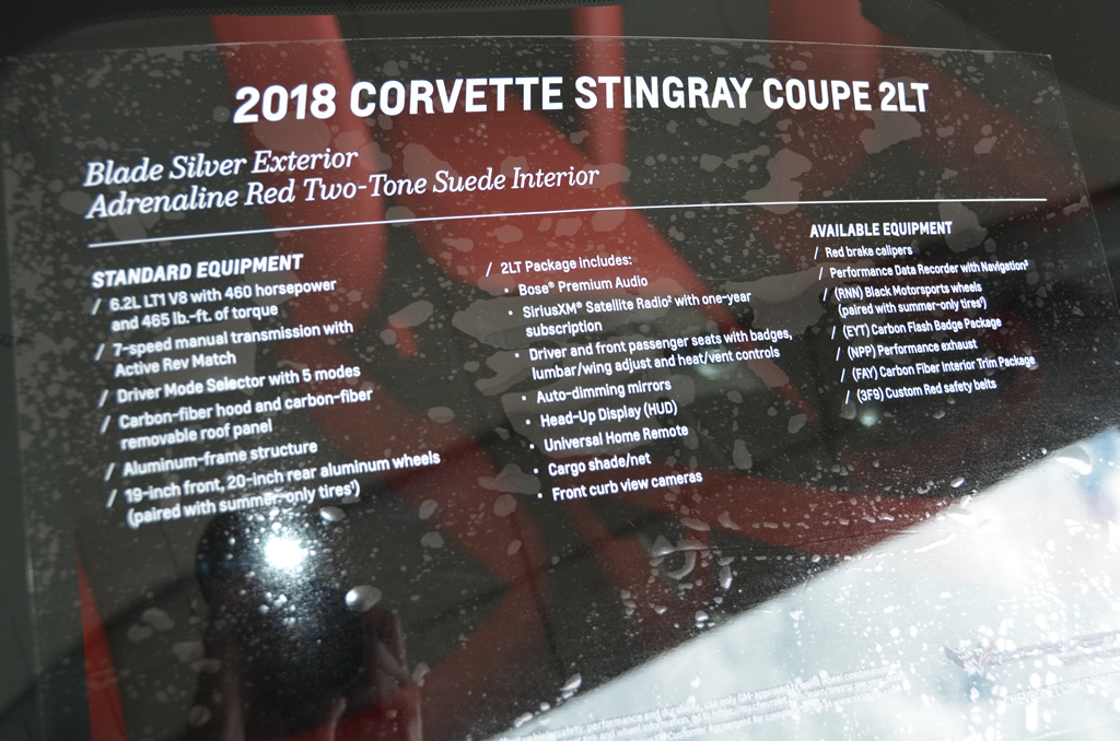 2018 Corvette Stingray Coupe - 2LT