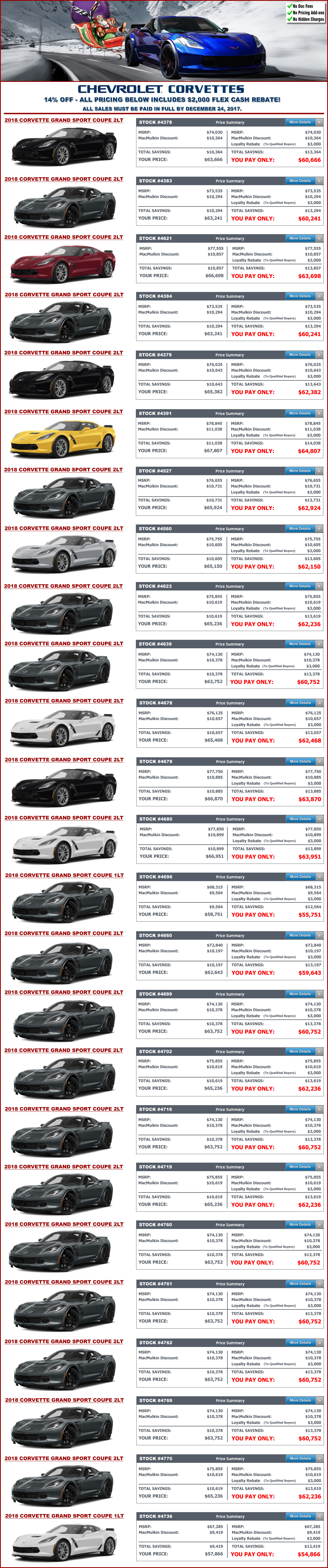 MacMulkin Chevrolet 20 18 Corvette Blowout Sale
