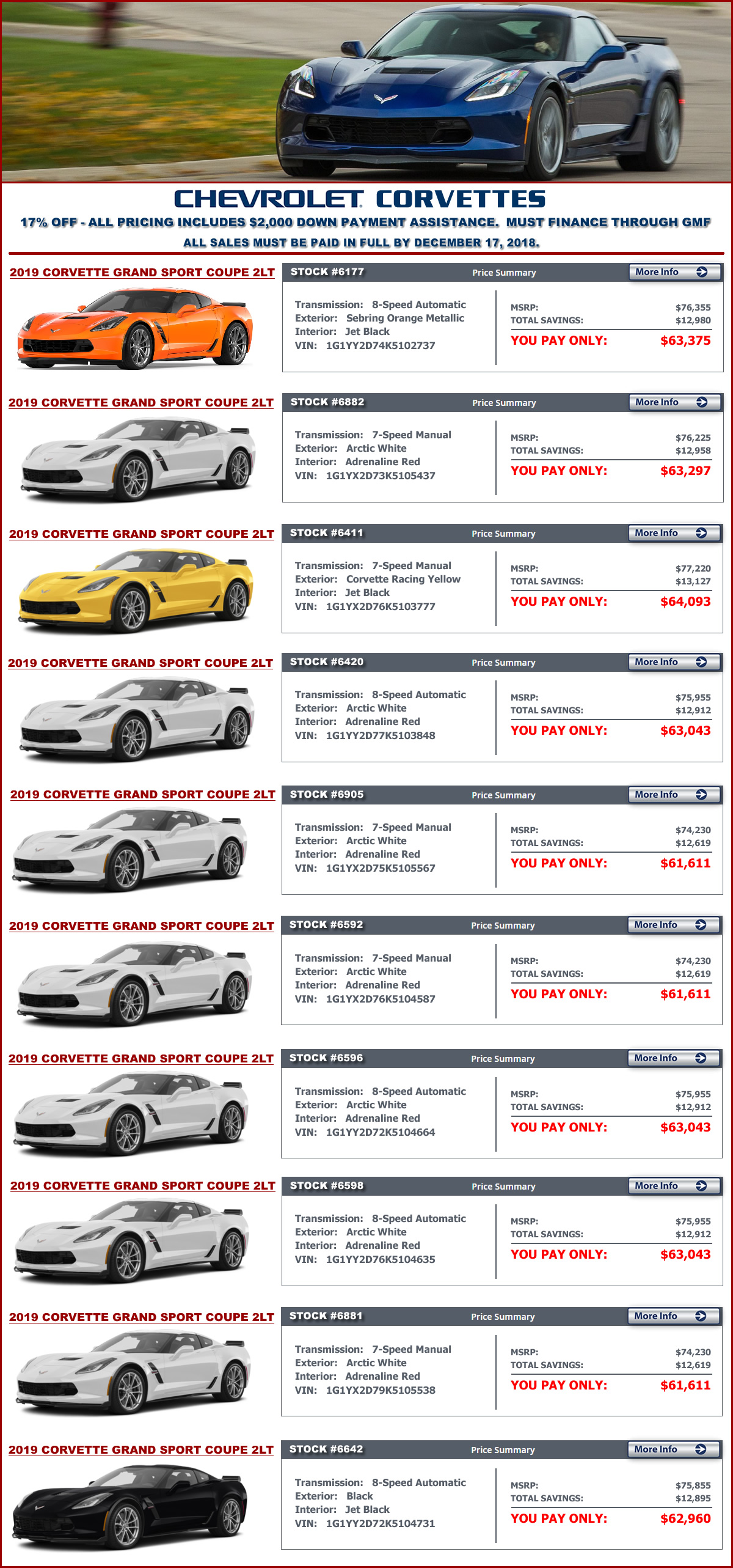 2019 Corvette Sale at MacMulkin