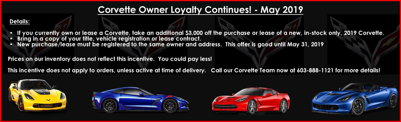 Macmulkin Chevrolet Corvette Owner Loyalty Incentive
